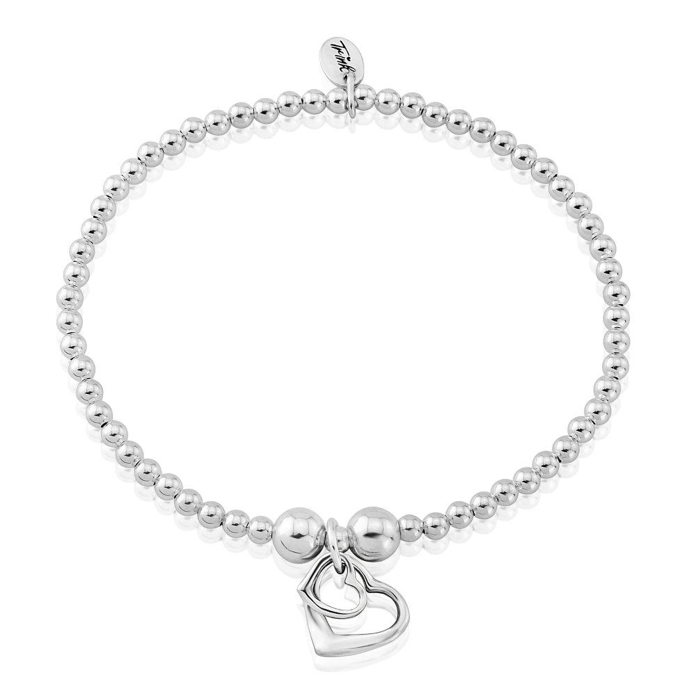 Trink Brand Bee Sterling Silver Beaded Charm Bracelet BH65yad0